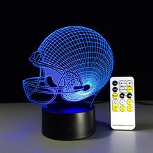 Rugby Football Cap Acrylic Night Light 3D LED Touch Switch Colorful Gradient Illusion Table Lamp Home Decor USB Lamp