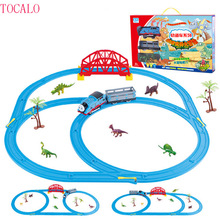 Thomas and Friends Trackmaster Sets Electric Rail Car Track With Dinosaur Come With Original Box Thomas Trains Toys For Kids(China)