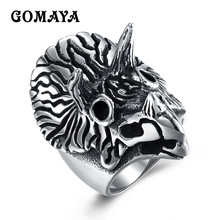 GOMAYA Mens Owl Rings for Men Punk Vintage Trend Gothic Biker Jewelry Fashion Rings Free Shipping Wholesale Bague(China)