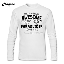 Awesome Paraglider Looks Like T Shirts Men Fashion O-Neck Long Sleeve T-shirt Man Clothing Graphic Tee Shirt Adult Hot Sale Tops