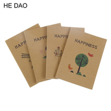 12 X 9 cm Fresh Style Tree And Birds Mini Notebook Diary Pocket Notepad Graffiti Book Promotional Gift Stationery(China)