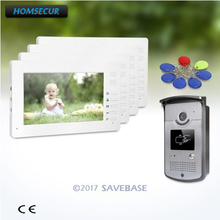 HOMSECUR 7inch Video Door Intercom System with Intra-monitor Audio Intercom for Apartment(China)