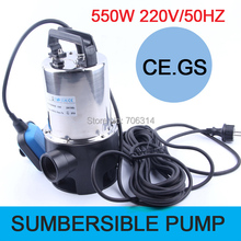 EU plug AZXQDS series portable small stainless steel submersible pump 550W pump QDS water tank rockery garden water pump
