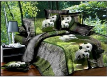 Home Textiles 3D Bedclothes Panda 4PCS Bedding Set  King Or Queen