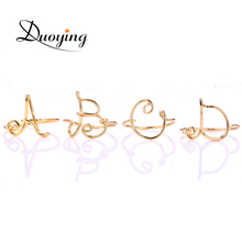 DUOYING Initial Name Ring For Women Handmade Custom   Name Wire Ring Personalize Letter Midi Knuckle Gold   Color Ring For Ebay