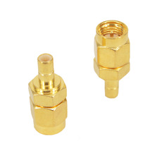 2 Pieces SMA to SMB Adapter SMA Male Plug to SMB Male Goldplated RF Coax Connector Adapters Straight(China)