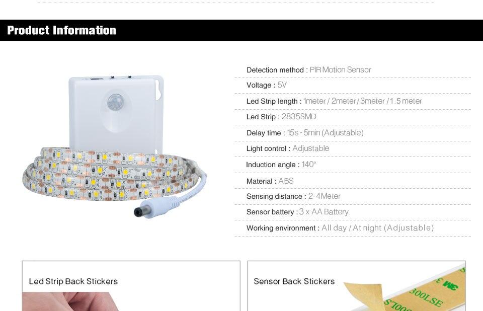 RGB LED motion sensor tape light (4)