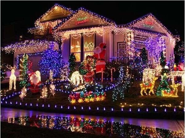 Christmas lights 50M 400 SMDs LED String Strip Garlands EU/UK/US/AU plug Fairy Light Landscape Wedding Party Garden decoracao<br><br>Aliexpress