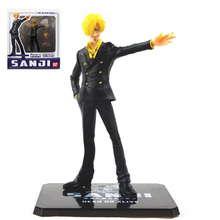 "1 pcs 16cm/6.3"" New World the Sanji Japanese Anime Cartoon Two Years Later One Piece Action Figures PVC Toy Doll Model(China)"