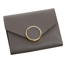 Women Simple Short Wallet Hasp Coin Purse Card Holders Handbag Fashion Shoulder Bag Handbag(China)