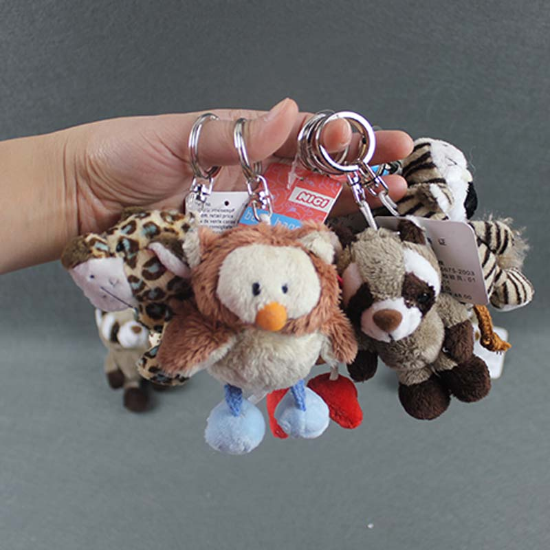 10pcs/lot Mixed Styles NICI Plush Toy Doll NICI Pendant Plush Keychain(China (Mainland))