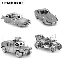 Finger Rock 3D Metal Puzzles DIY Model Gift World's Vehicle Ford Car Taxi Beetle Car Tractor Humvee Jigsaws Toys Present Gift