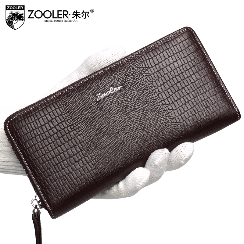 ZOOLER Brand Fashion casual style mens wallets genuine leather Thin super soft black long wallet men clutch bags elegant #86013<br>