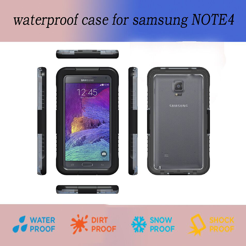 """Luxury Best Waterproof! Professional Shock Proof Touch ID Stand For iPhone 6S 4.7"""" 6Plus 5.5 inch Fingerprint Diving Case Cover"""