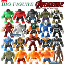 Kaygoo Large Big Size Groot Green Hulk Buster Venom Single Sale Mark 38 Gorilla Building Block Figures Toys For Children Gifts(China)