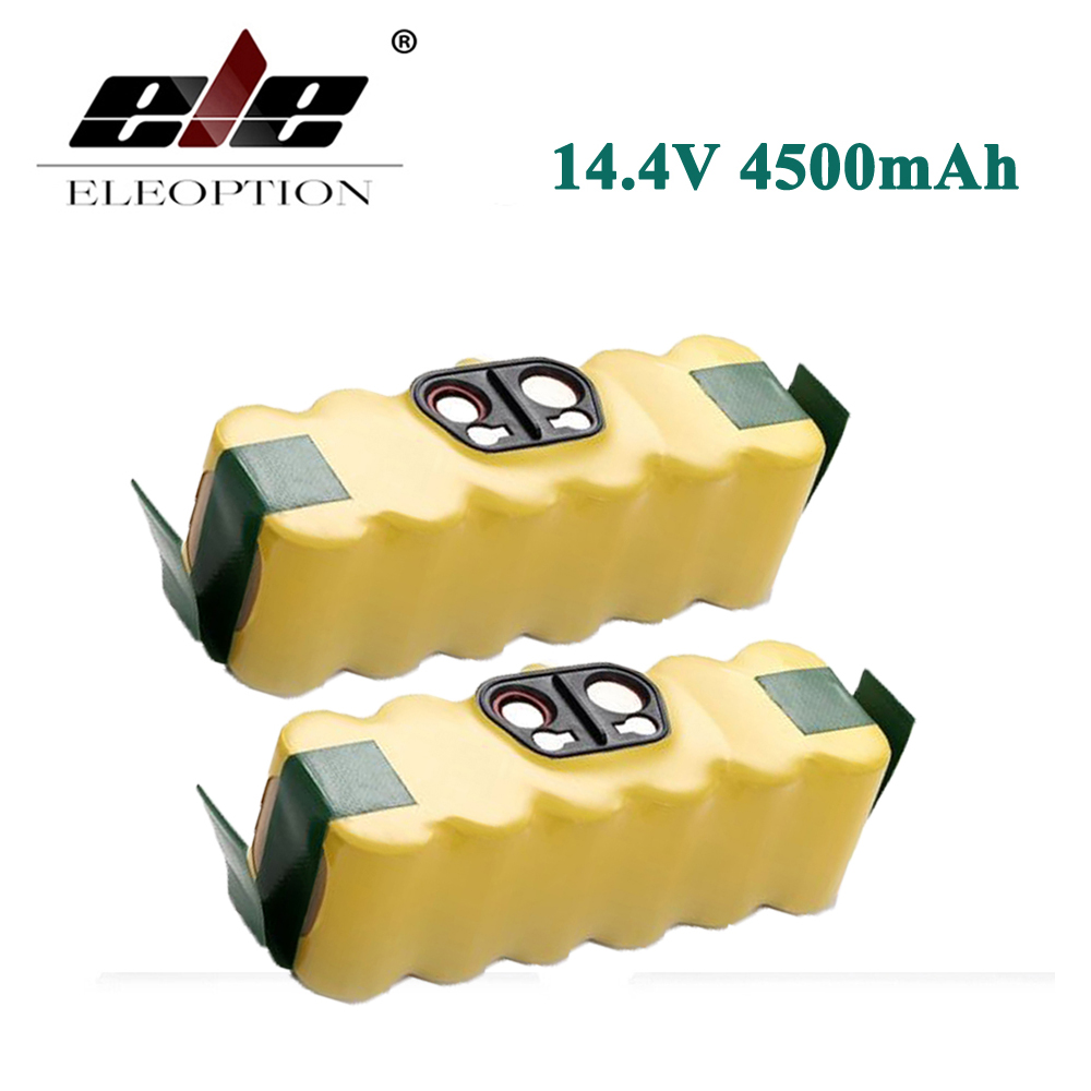 ELEOPTION 2PCS 14.4V 4500mAh For iRobot Roomba Ni-MH Vacuum Cleaner Rechargeable Battery for 500 550 560 600 650 700 780 800(China)