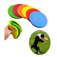 2017 Perros Perro Tooth Resistant Flying Pet Dog Toy Silicone Rubber Chewing Frisbee For Large Big Outdoor Training Interactive