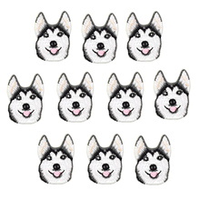 Buy 10PCS husky dog embroidery patches clothing iron patch applique embroidered iron patch clothing stickers clothes for $4.17 in AliExpress store