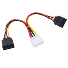 Kebidumei Hot Selling IDE to Sata Power Cable 4 Pin IDE to 2x Serial ATA SATA HDD Power Adapter cable Extension Power Cable