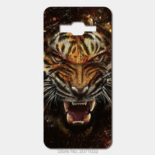For Samsung Galaxy Grand Prime G530H J2 J5 J7 Prime J3 Pro hard PC High quality printing picture Raging tiger phone cases