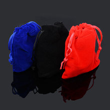 10pcs/bag 7x9cm 9x12cm Jewelry Packing Velvet Bag Packaging Bags Drawstring Gift Bags & Pouches(China)