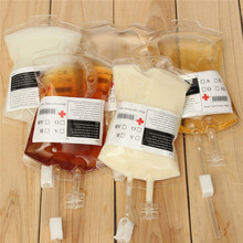 5pcs/Set 300ml Blood Juice Energy Drink Bag Halloween Event Party Supplies Pouch Props Vampires Reusable Package Bags Water Bag