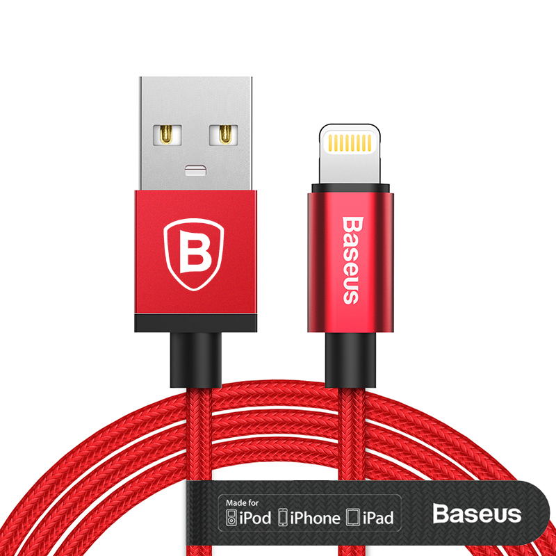 Baseus MFI Certified Charging Cable For Lightning to USB Cable For iPhone 5 6 7 7 Plus iPad Air Mini 2 3 2.4A Fast Charger Cable(China (Mainland))