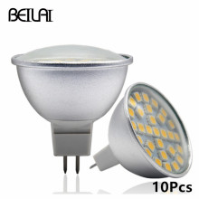 BEILAI 10Pcs 5050 MR16 Aluminum LED Spotlight Lampada LED Lamp 220V Spot Light Candle LED Bulbs Tube Christmas Home Lighting(China)
