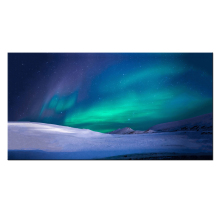 Green Aurora Canvas Prints Northern Lights HD Printed Wall Pictures Home And Office Decorations Modern Giclee Artwork 42x22inch