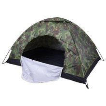 2 Person Waterproof Camouflage Military Camping Tent Sun Shade Shelter Outdoor Hiking Fishing Beach Tents