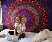 Cilected Mandala Wall Tapestry India Home Decorative Bohemian Hippie Tapestry Fabric Wall Hanging Art Backdrop Cloth Table Cover(China)