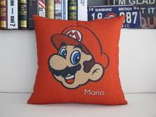 Handsome Mario Cartoon Figure Red Hat Pillow Massager Decorative Travel Pillows Home Decor Home Popular Pop Gift(China)