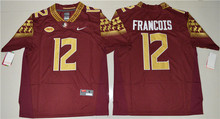 Nike Jerseys 2016 Florida State Seminoles Deondre Francois 12 College Ice Hockey Jerseys - Red Size S,M,L,XL,2XL,3XL(China)