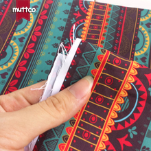 Retailing high quality DIY sewing polyester fabric green and supple burly single-sided printed national style peach skin fabric(China)