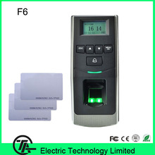 F6 Fingerprint  Access Control And Time Attendance With 125Khz RFID Card Reader Finger Print Time Recorder Wiegand Time Clock