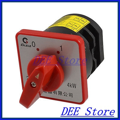 AC 380V 20A 4KW 6 Terminal Two Position Cam Combination Switch<br><br>Aliexpress