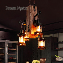 One industrial wind bar creative personality retro Restaurant Bar clothing store wood lamps