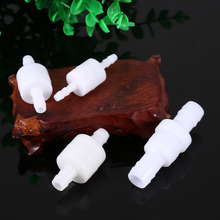 4Pcs/Lot Plastic One Way Inline Check Valve Fuel Diesel Gas Liquid Water 4 6 8 12mm Each Size One Piece White(China)