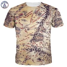2017 Mr.1991INC Hot Sell Men/Women 3d T-shirt Retro Print The Middle Earth World Map Brand Tshirts Summer Tops Tees Quick Dry
