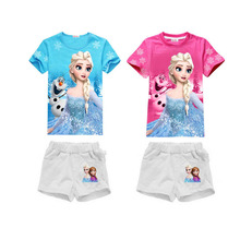 Fashion Summer Girl Dress Children Girls Clothing Set T Shirt Pants Spring Sleeve Party Kids Striped White Pink Princess Dresses(China)