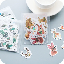 40pcs/lot Cute Animals Plants Mini Paper Sticker Set Decoration Diy Ablum Diary Scrapbooking Stationery Stickers School Supply