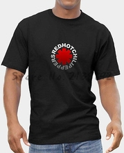 RED HOT CHILI PEPPERS 1 T-SHIRT MENS BLACK FRUIT OF THE LOOM DTG men's top tees(China)