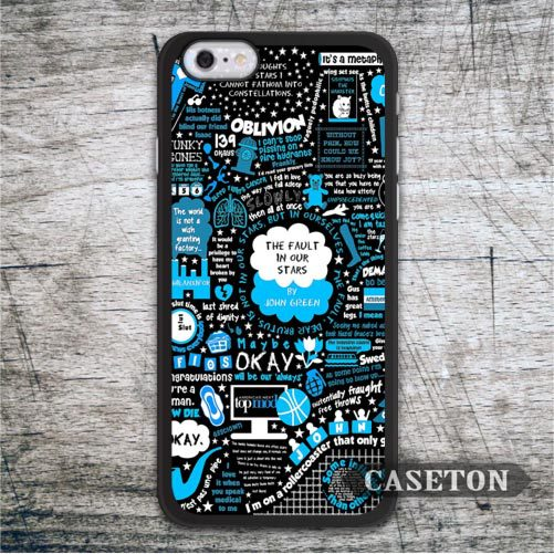 Black Blue Okay Quote Case For iPhone 7 6 6s Plus 5 5s SE 5c and For iPod 5 High Quality Lovely The Fault In Our Stars