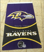 3x5ft Baltimore Ravens flags 90x150cm polyester digital print banner with 2 Metal Grommets(China)