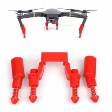 DJI Mavic Pro Landing Gear Stabilizers Gimbal Protector With Spring for DJI MAVIC PRO - Red(China)