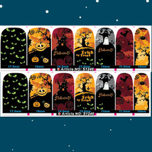 Halloween Nail Sticker Trick of Treet  Full Cover Finger Nail Wraps Adhensive Nail Patch S1246