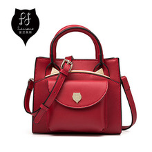 FULANPERS Cat Design Top Luxury Handbag For Women 2017 Custom Hardware Messenger Thread Fashion Girls Leather Shoulder Bags(China)