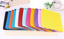 Candy Color Soft Jelly Silicone Rubber TPU Case capa fundas For iPad 2 3 4 Gel Case Skin Shell Back Cover For Apple iPad 2 3 4