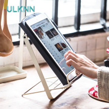 Foldable Metal Storage Holder Books/Pad Display Reading Holder Creative Iron Desk Organizer Magazines Storage Racks(China)