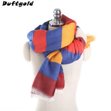 New Women Popular Patchwork Scarf Ladies Multicolor Soft Warm Scarves Female Beautiful Joker Literature Shawl Pashmina Duftgold(China)